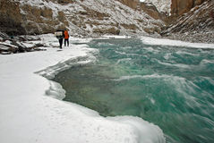 Frozen Zanskar River-2 Royalty Free Stock Photos