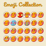 Vector Emoji Set. Emoticon Flat Icon Emoji Collection - Vector royalty free illustration