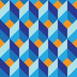 Seamless geometric colorful vector flat pattern royalty free illustration