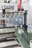 Förpackande maskin Fotografering för Bildbyråer