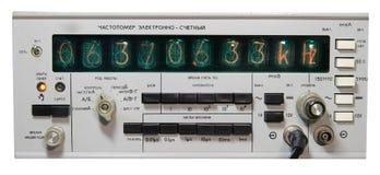 Fréquencemètre Photographie stock libre de droits