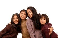 Frères indiens et trois soeurs Image libre de droits