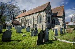 Församlingkyrka av St George, Brede, Kent, UK Arkivbild