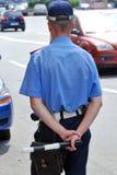 förse med polis trafik Arkivfoton
