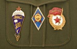förser med märke militär ryss Royaltyfri Fotografi