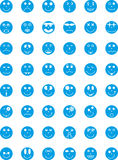 förser med märke symboler för uttryckssymbolspersoner Arkivbilder