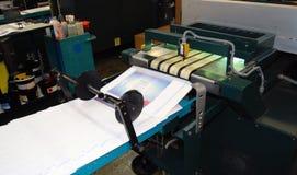 förskjuten pressprinting Arkivbilder