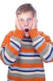 förskräckt barn Royaltyfria Foton