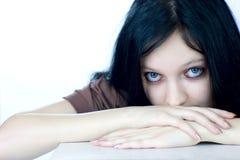förskräckt barn för flicka Fotografering för Bildbyråer