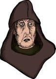 Förskräckt medeltida man Arkivfoto