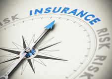 Försäkring- eller försäkringsbegrepp Arkivbilder
