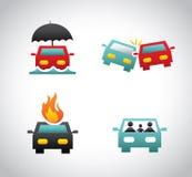 Försäkring för bil Arkivbild