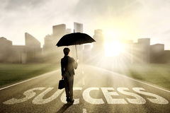 Försäkringmedel som söker efter framgång Arkivfoto