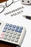 försäkringpolitik Royaltyfria Bilder