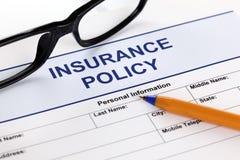 Försäkringpolitik Arkivbilder