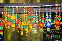 Försäljning av hantverk förser med krage på Mexiko - stad Arkivfoton