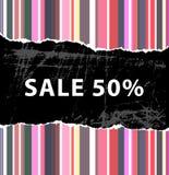 försäljning för 50 bakgrund Arkivbilder