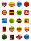 Försäljningsetiketter Arkivfoto