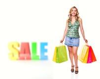 försäljningsshopping Royaltyfri Fotografi