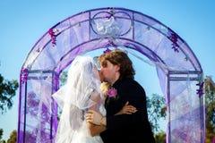 första kyss Arkivbild
