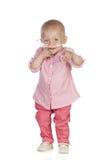 Förtjusande behandla som ett barn slå sjukdomen Royaltyfri Foto