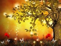 förtrollad tree Arkivfoton