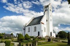Fru Alstad Church in skane. The white stone church at trelleborg parish in the Skane region of Sweden Royalty Free Stock Image