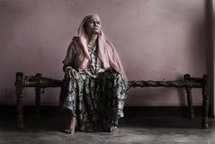 Fru av Sadhu Royaltyfri Bild