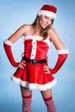 Fru Claus Costume Woman arkivbild