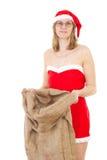 Fru Claus efter arbete royaltyfri fotografi