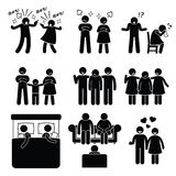Fru för make för par för förbindelsefamiljproblem med lägerledaren Arkivfoton