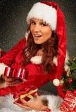 Fru Santa arkivbilder