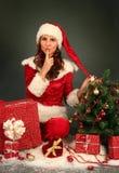 Fru Santa royaltyfria bilder
