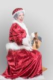 Fru Santa Claus royaltyfria foton