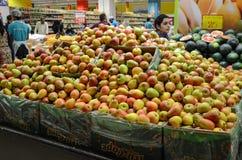 Frucht-Abschnitt an Hyperstar-Supermarkt Stockfoto