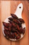Frucht Amomum tsaoko oder Cao Guo Stockfotos