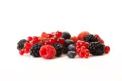Frucht auf einem weißen Hintergrund Stockbilder