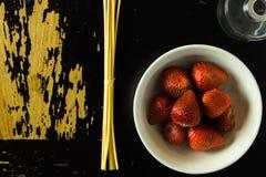 Frucht auf Tabelle Lizenzfreies Stockfoto