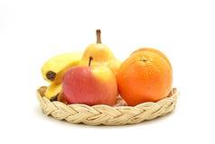 Frucht auf Tellersegment Stockfotografie