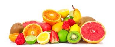 Frucht auf weißem Hintergrund stockfotografie