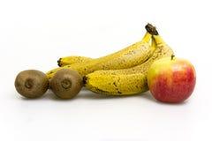 Frucht auf weißem Hintergrund Stockbild