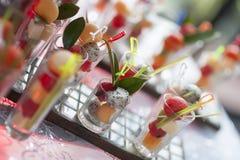 Frucht cocktail Stockfotos