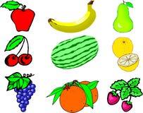 Frucht-Collage Stockfotos