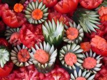 Frucht, die auf Zwiebel-Festival in Weimar schnitzt Stockfotos