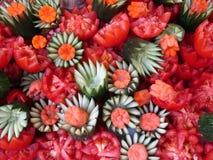 Frucht, die auf Zwiebel-Festival in Weimar schnitzt Lizenzfreie Stockbilder