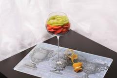 Frucht in einem Glas Lizenzfreie Stockbilder