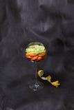 Frucht in einem Glas Stockfoto
