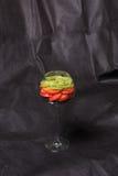 Frucht in einem Glas Stockfotografie