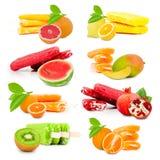 Frucht-Eiscreme Stockfotografie