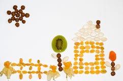 Frucht-Garten-Auslegung Lizenzfreies Stockfoto